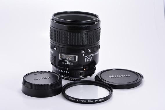 Nikon 60mm F/2.8 D Af Micro-nikkor Full Frame Fx/dx