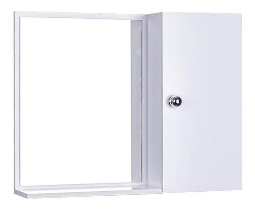 Imagem 1 de 6 de Armário Para Banheiro Com Espelho Cor Branco