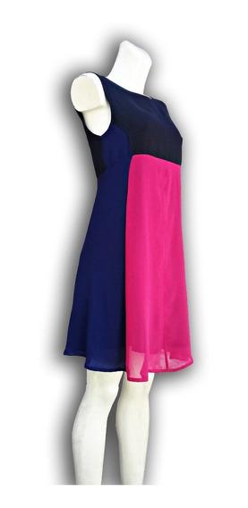 Vestido Corto Color Rosa Azul