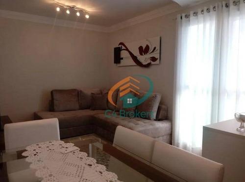 Imagem 1 de 20 de Apartamento Com 2 Dormitórios À Venda, 57 M² Por R$ 375.000 - Vila Rosália - Guarulhos/sp - Ap2496