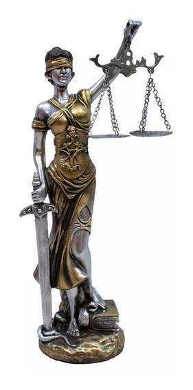 Estátua Deusa Da Justiça 20cm Dama Do Direito Themis