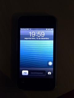 iPhone 3gs Funcionando 8gb Com Cydia Instalado Preto