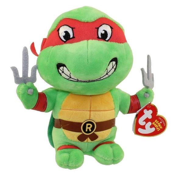 Pelúcia Raphael - Tartarugas Ninja - 16cm Beanie Babies Dtc