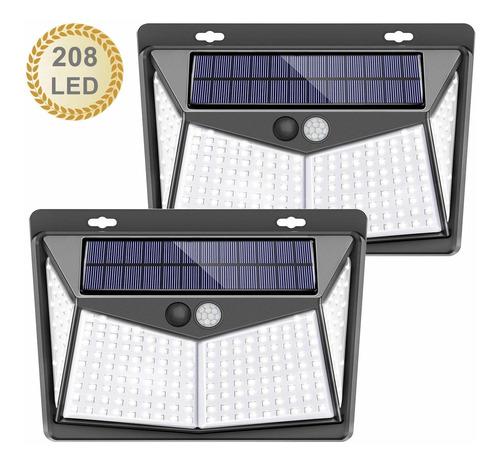 Lámparas Led Solares De Exterior Con 3 Modos