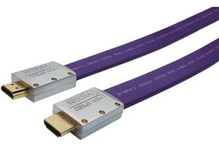 El Mejor Cable Hdmi 4k 2 Metros V2.0 Plano Oro 60hz