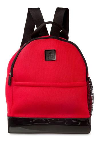 Imagem 1 de 4 de Mochila Academia Petite Jolie Pj4685 Preta Rosa Vermelha