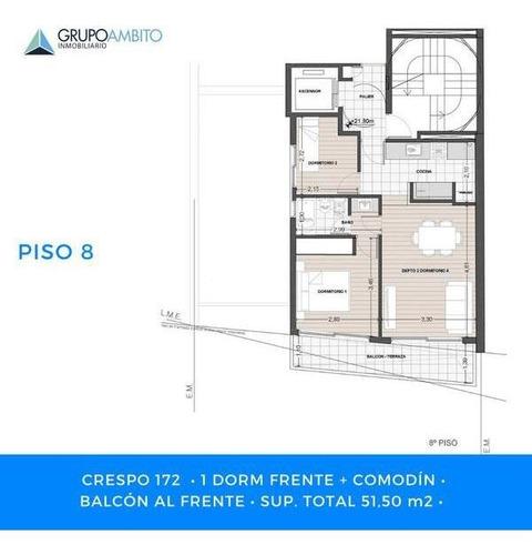 Crespo Y Salta . 2 Dormitorios Con Balcon - Opcion Cochera