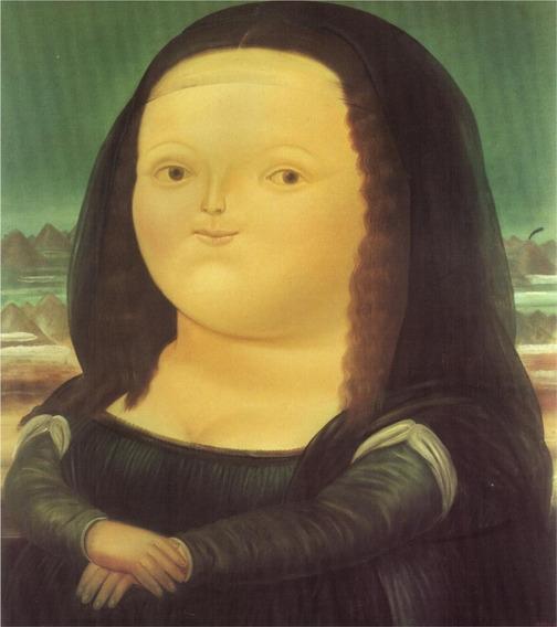 Lienzo Tela Fernando Botero Mona Lisa 70x79cm