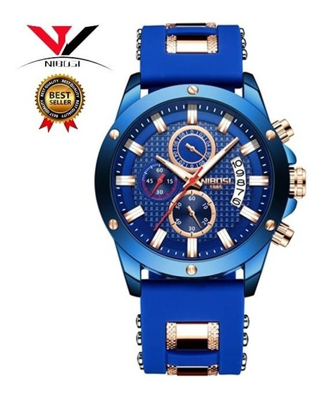 Relógio Masculino Suiço Nibosi Original Modelo 2333
