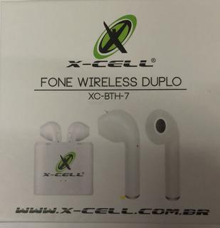 Fone X-cell Wireless Duplo Xc-bth-7 Bluetooth