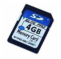 Cartão De Memória Sd - 4gb - Elite Pro - Frete Grátis