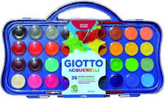 Acuarelas Giotto Pastillas Grandes X36 Colores Microcentro