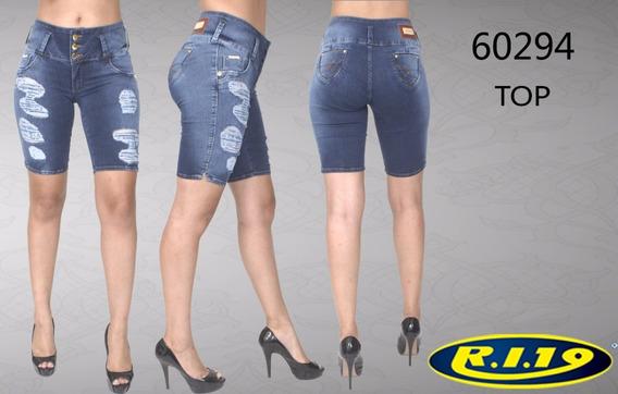 Bermuda Jeans Feminina Top Ri19 60294