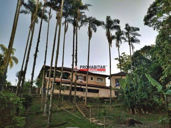 Chácara Com 4 Dormitórios À Venda, 2100 M² Por R$ 680.000 - Cipó - Embu-guaçu/sp - Ch0143
