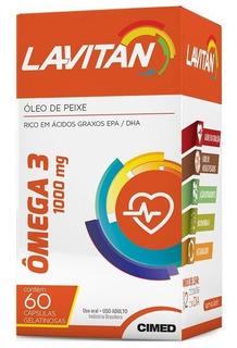 Lavitan Omega 3 C/60 Cápsulas 1000mg Melhor Que Catarinense
