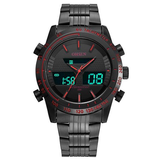 Ohsen Esporte Cronógrafo Digital Led Relógio Duplo Exibição