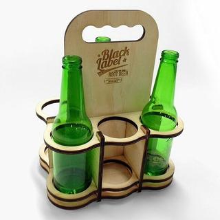 Porta Cervezas Madera Papa Ligero Regalo Casa