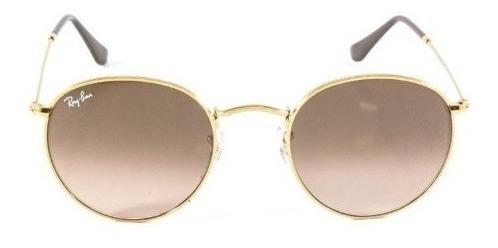 Oculos Redondo Metal Estiloso Lentes Em Cristal