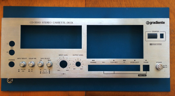 Painel Tape Deck Cd3500 - Gradiente
