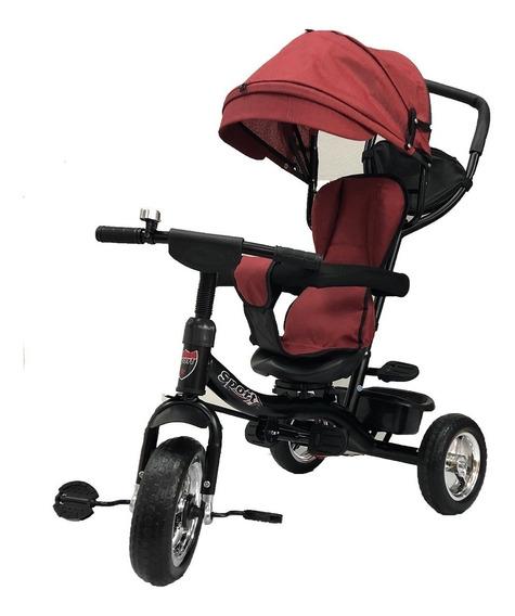 Triciclo Giratorio Infantil Reforzado 360 Grados Con Manija