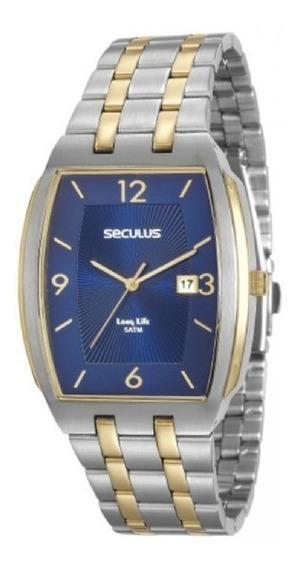 Relógio Masculino Seculus Prateado Aço 20587gpsvba1 C/ Nfe