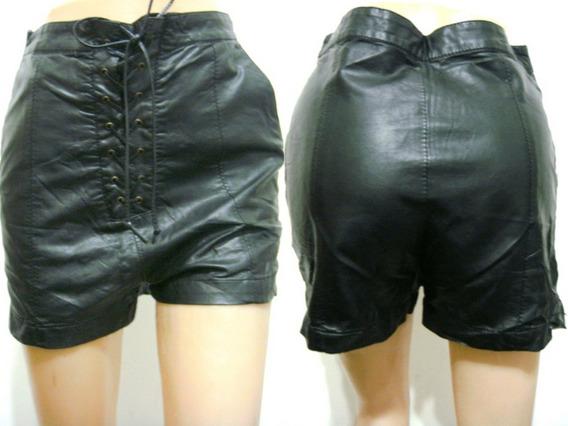 Delaostia Pantalon Short T03-44 Eco-cuero Negro (ana.mar)
