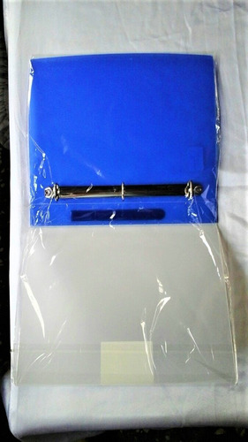 Carpeta De 3 Aros Color Azul Shuter 1 1/2 Pulgadas