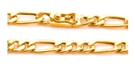 Pulseira Masculina Ouro 18k Grumet Alternado 30g Maciça 0029