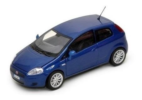 Miniatura Fiat Grande Punto Azul 1:24 Motor Max 73377