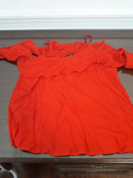 Blusa Roja De Tucci - Talle L