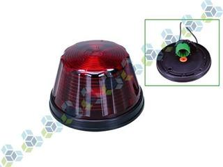 Lanterna Lat Poliestireno Vermelha Base Metalico Baixa Soque