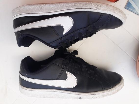 Tênis Nike Preto 42 Court Royale Original Usado (caixa Nike)