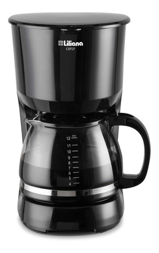 Imagen 1 de 2 de Cafetera Liliana Cofly AC950 semi automático negra de filtro 220V