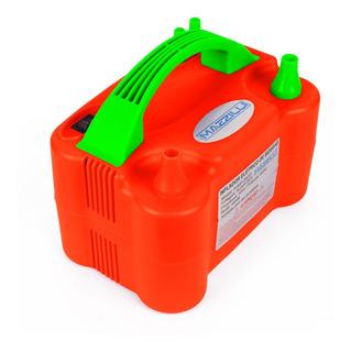 Inflador Compressor Balão Bexiga 2 Bico +medidor Bexiga