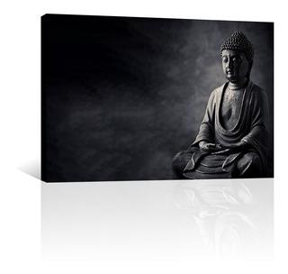 Cuadro Decorativo Zen Y Buda Canvas Estatua De Buda Piedra
