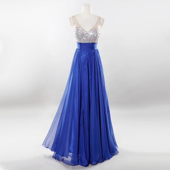b005b6100023 Vestido Azul Turquesa Pedreria - Ropa, Bolsas y Calzado en Mercado ...