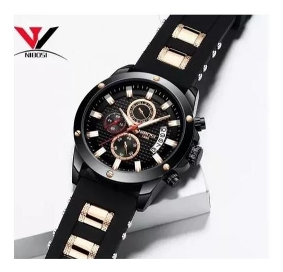 Relógio Masculino Adulto De Pulso Nibosi 2333 C Caixa