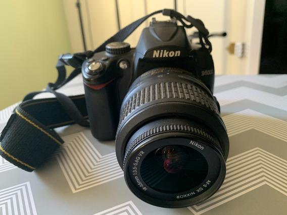 Câmera Nikon D5000 + Lente 18-55 Com Bateria E Carregador