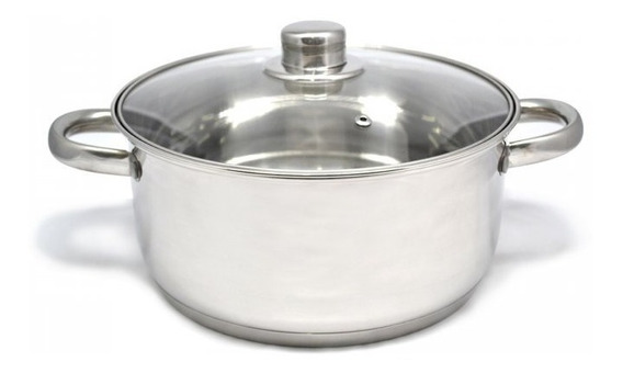 Olla Cacerola Gourmet Plus 22 Cm Acero Inox Triple Fondo