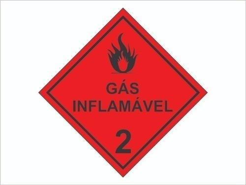 Gás Inflamável Classe 2 / Produtos Perigosos / Adesivo Refle