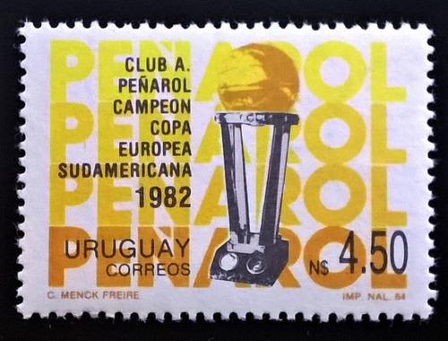 Uruguay Deportes Sello Yv 1150 Fútbol Peñarol 84 Mint L12552