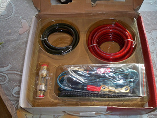 Kit De Instalación Cable Número 4 Para Sonido 1800w Nuevo
