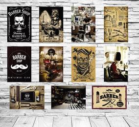 10 Placas Decorativas Barbearia Barba Barber Shop 15x20 Cm