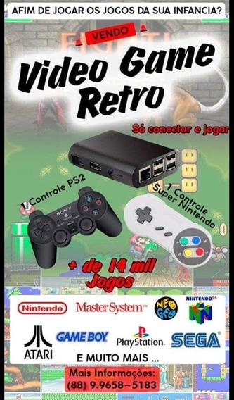 Vídeo Game Retrô Raspberry Pi 3 64gb 2 Controles