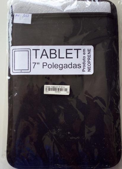 Capa Case Luva Neoprene Preto Tablet 7 Polegadas