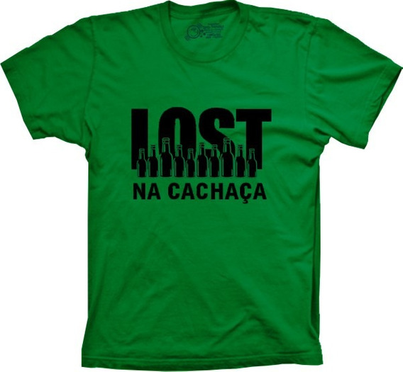 Camisetas 4fun - Engraçada Lost Na Cachaça