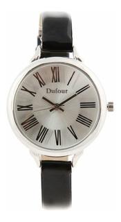 Reloj Dufour Original Taranto Hombre Cuero Vestir Fiesta Descuentos Por Cantidad