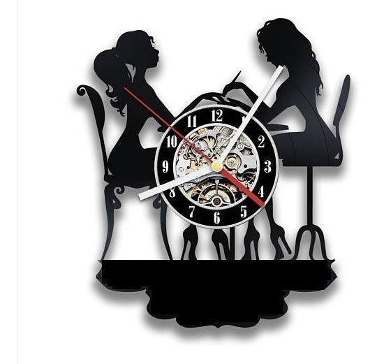 Relógio De Parede, Manicure, Cabeleireiro, Salão De Beleza