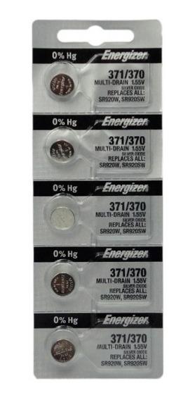 Cartela 5 Bateria Original Energizer 370 371 Sr920sw 1.55v