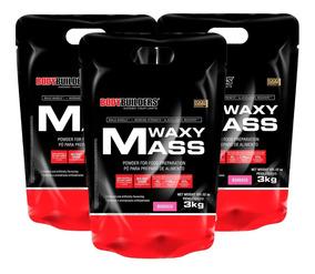 Combo 3x Hipercalorico Waxy Mass 3kg - Bodybuilders